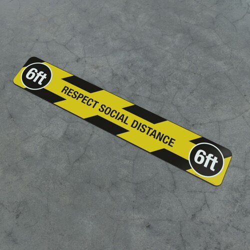 Floor Marking Strip Respect Social Distancing